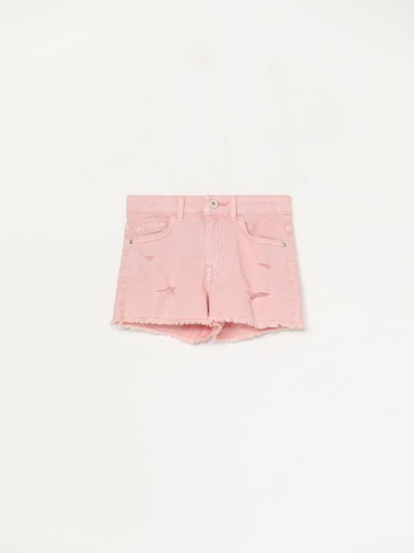 Pantalons curts texans color