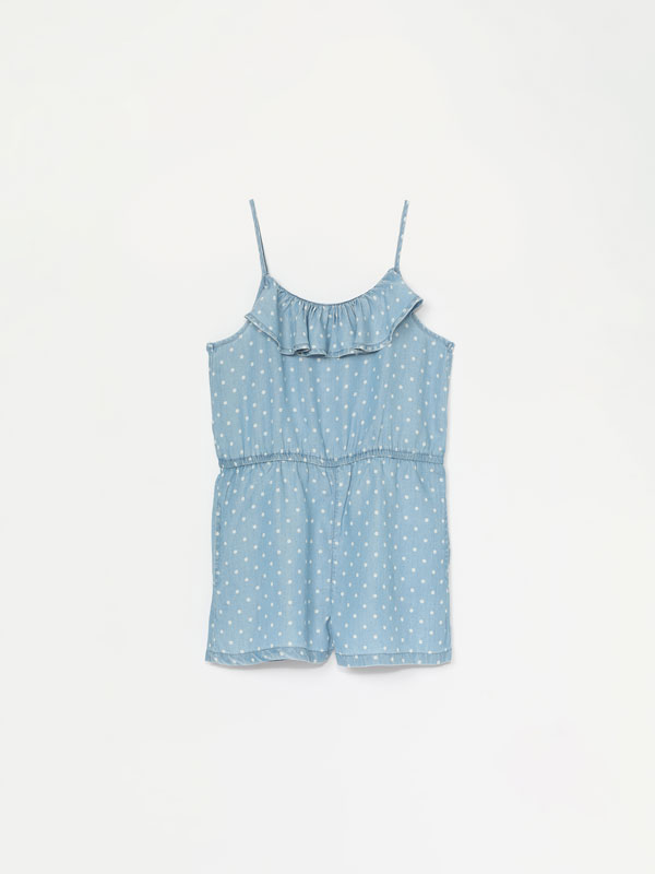 Lightweight denim playsuit