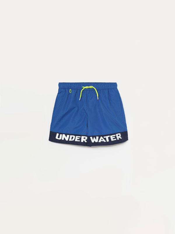 Printed swimming trunks