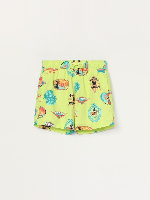 Mickey © Disney print swimming trunks