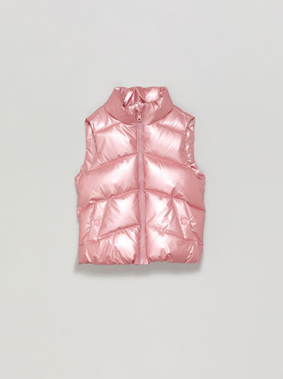 METALLIC QUILTED GILET
