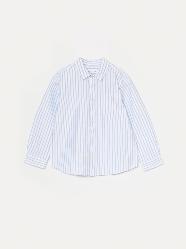 Camisa oxford de raias