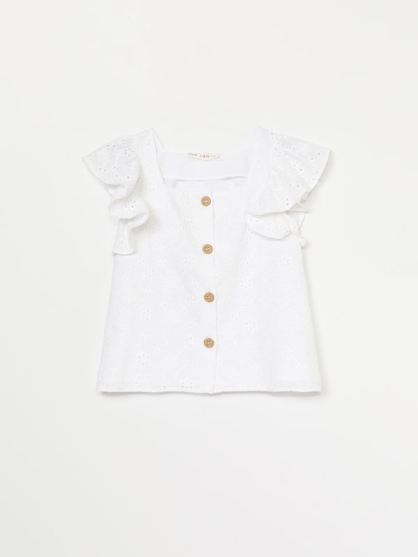 SWISS EMBROIDERY TOP