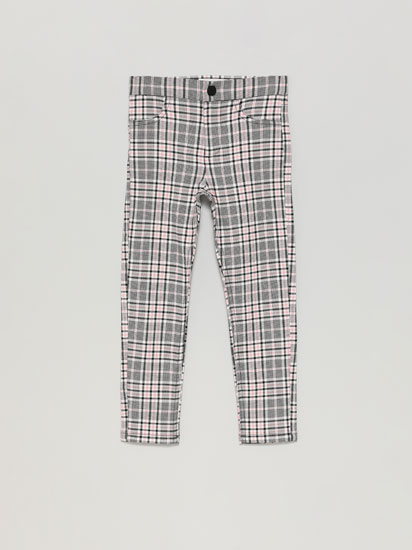 SUPER STRETCH CHECK TROUSERS