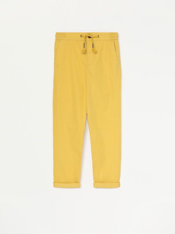 Basic cotton trousers