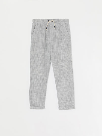 LINEN EFFECT TROUSERS
