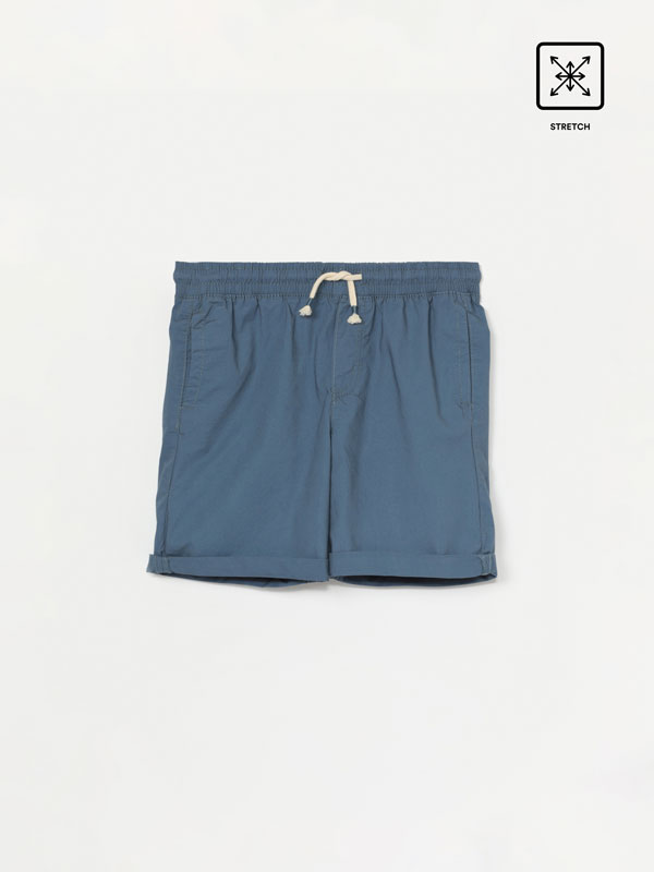 Stretch beach Bermuda shorts