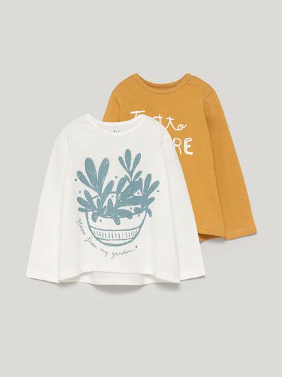 Pack de 2 samarretes estampades de màniga llarga