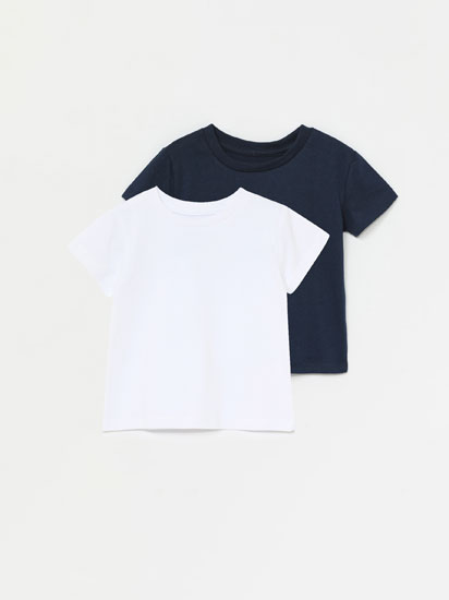 PACK OF 2 PLAIN SHORT SLEEVE T-SHIRTS