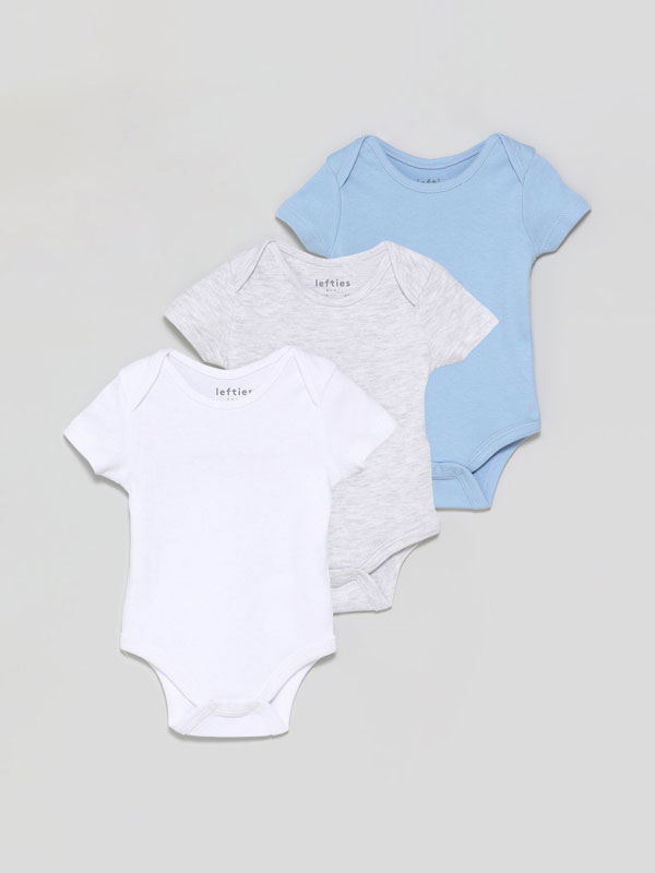 Pack of 3 basic short sleeve bodysuits