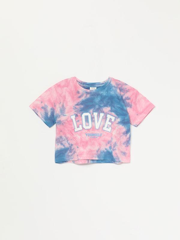 Camiseta crop tie-dye