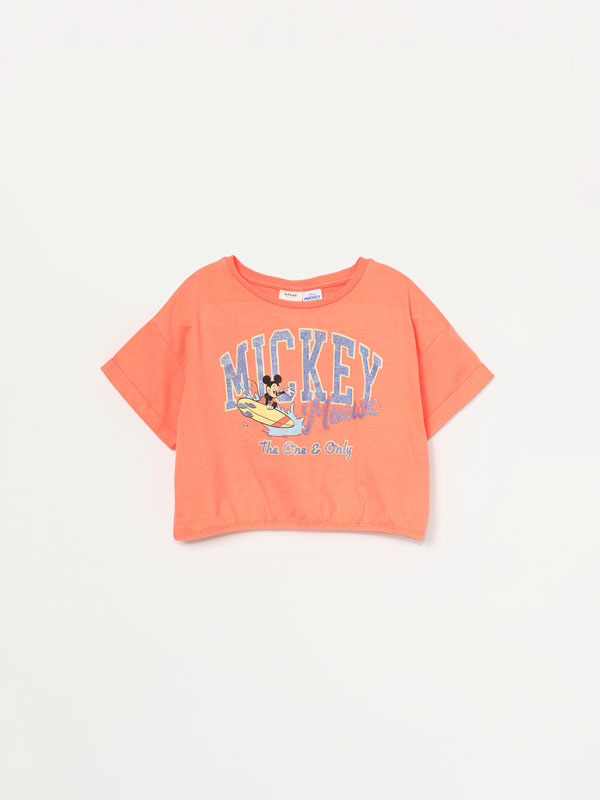 T-shirt cropped do Mickey Disney