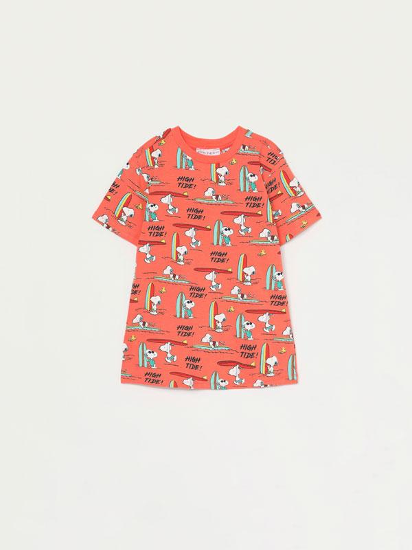 T-shirt com estampado de Snoopy Peanuts™