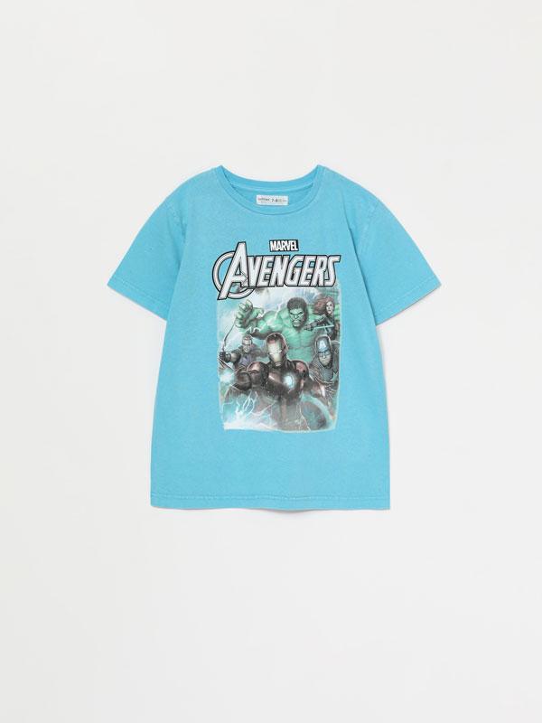 Camiseta efecto lavado con estampado de Avengers ©Marvel