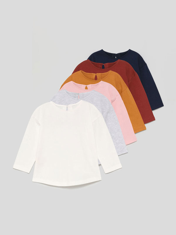 6-Pack of basic long sleeve T-shirts
