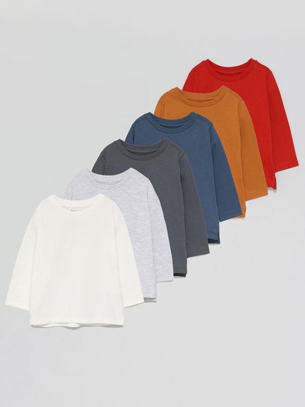 6-Pack of basic long sleeve T-shirts