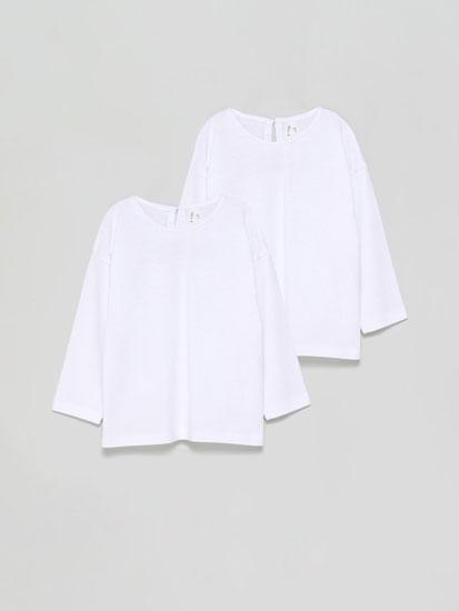 Pack de 2 camisetas básicas de manga larga