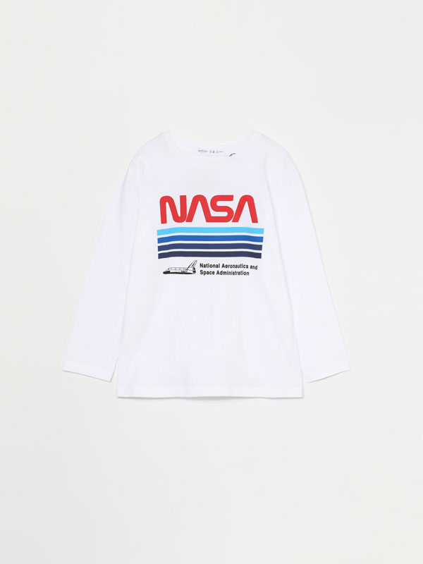 T-SHIRT NASA DE MANGA COMPRIDA