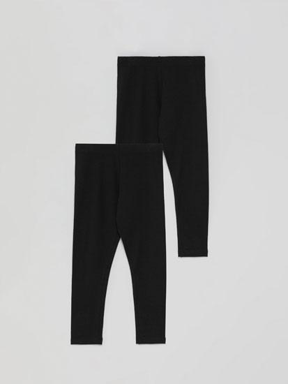 Pack de 2 leggings longos básicos