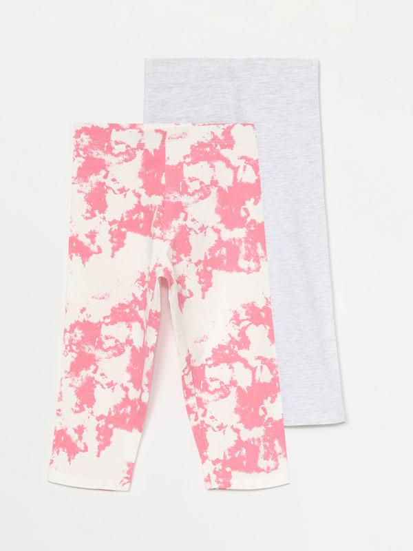 Pack de 2 leggings capri llis i tie-dye
