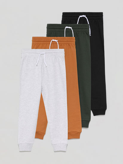 4-Pack of Basic Plush Trousers