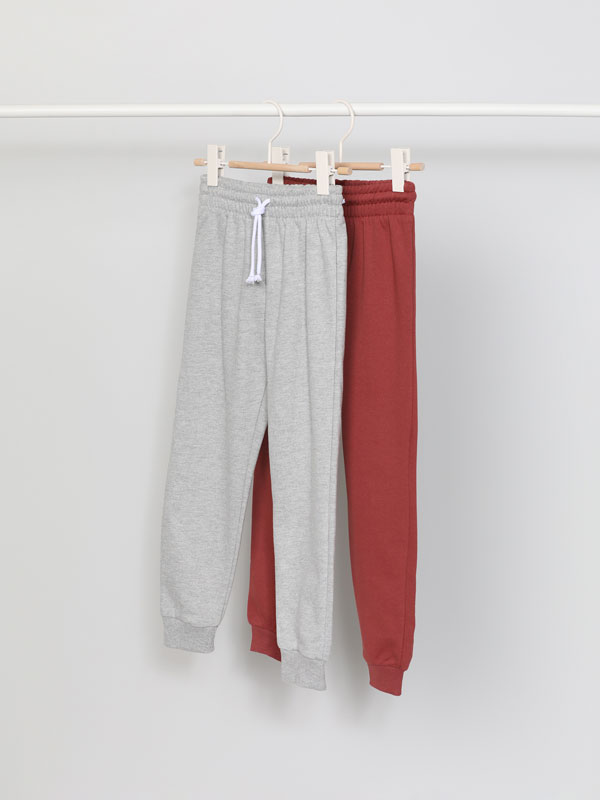 2-Pack of Basic Plush Trousers