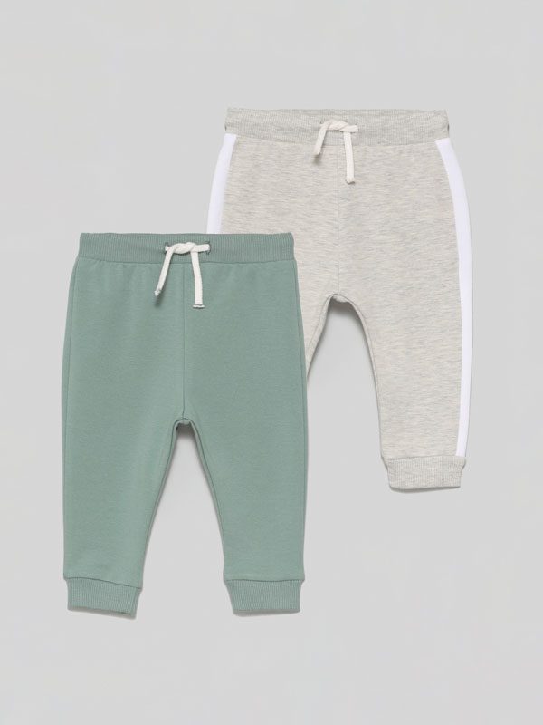 Pack of 2 pairs of tracksuits bottoms