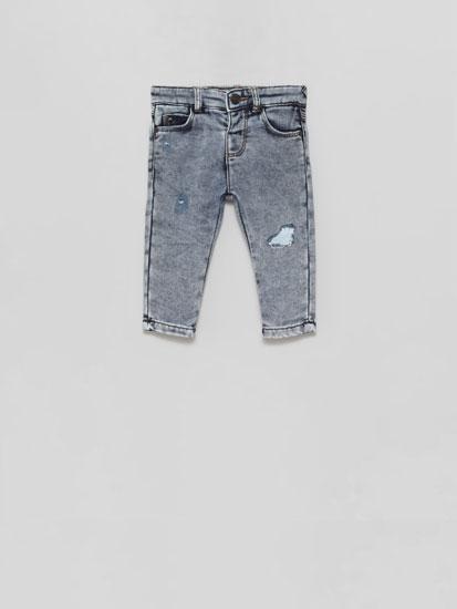 Pantalón algodón efecto vaqueiro