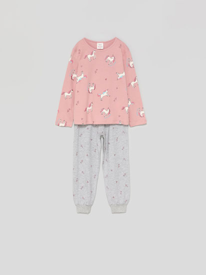 Shiny print pyjama set