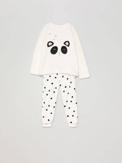 Panda fleece pyjama set