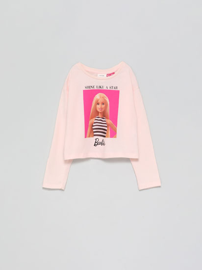 T-shirt Barbie™ de manga comprida.