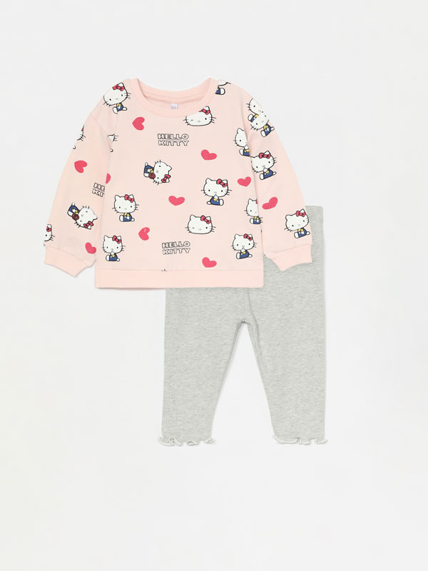 HELLO KITTY ©SANRIO SWEATSHIRT AND LEGGINGS SET