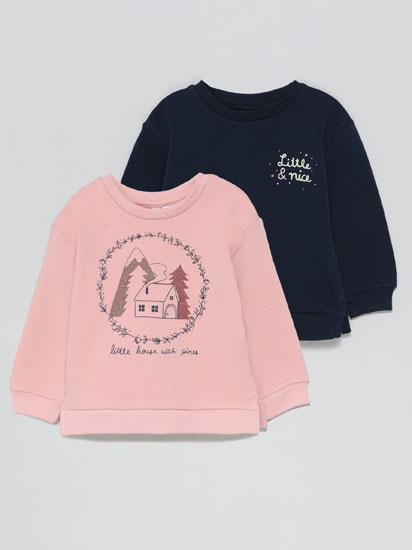 Pack de 2 sweatshirts estampadas