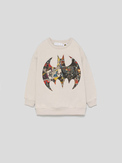 BATMAN © DC SWEATSHIRT WITH RAISED LOGO