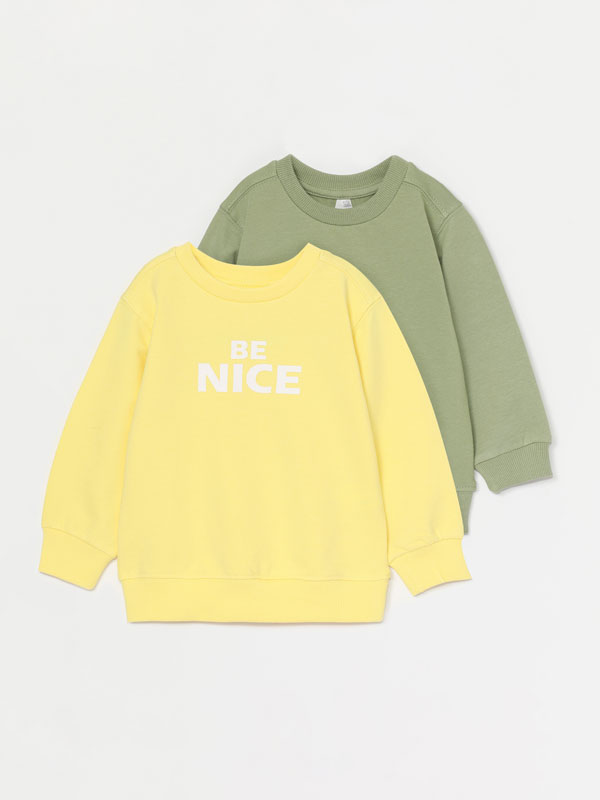 Pack of 2 basic plain sweatshirts