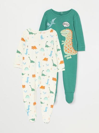 Pack de 2 pijamas con estampado de dinosaurios