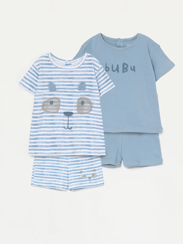 Pack de 2 conjunts de pijama estampats
