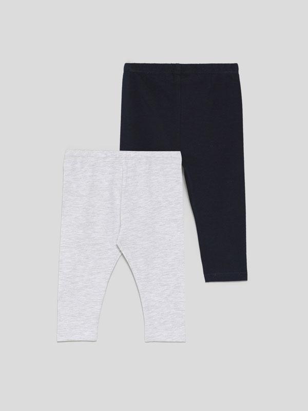 Paquet de 2 leggings llargs bàsics