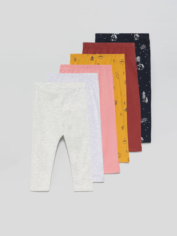 6-Pack of long basic leggings