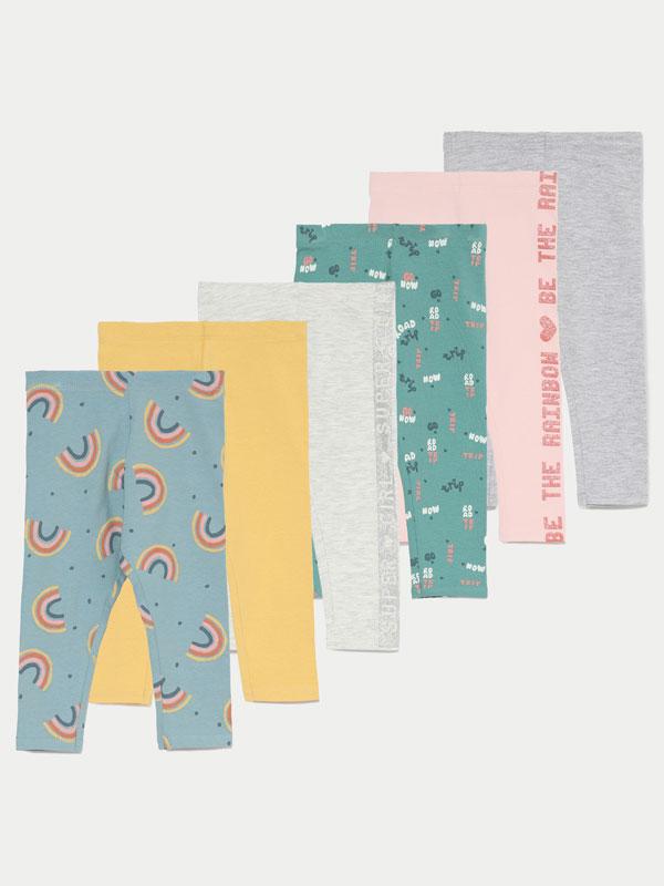 6-Pack of long leggings