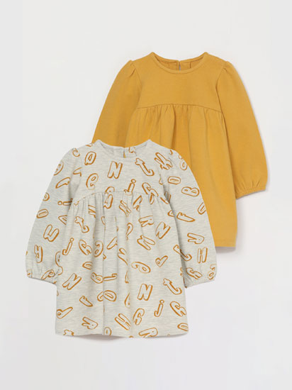 Pack 2 vestidos de felpa
