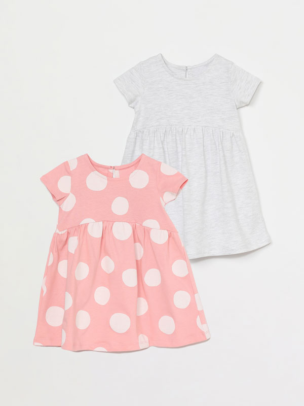 Pack de 2 vestidos de manga corta