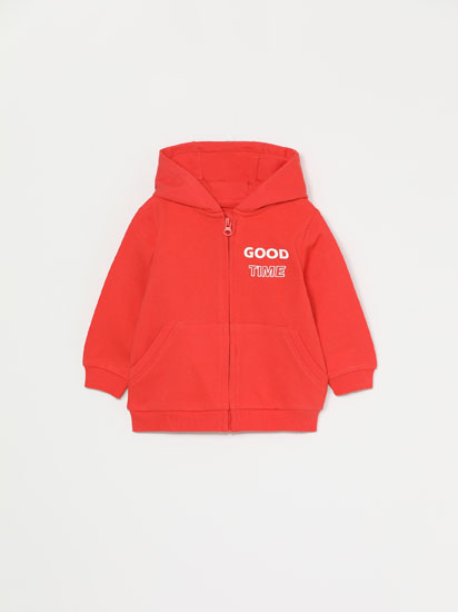 BASIC PLUSH HOODED JACKET