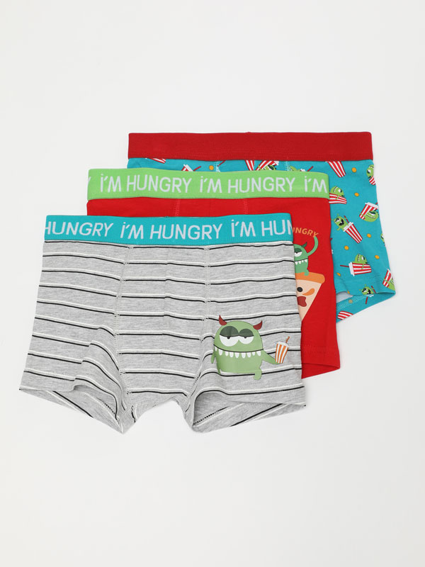 3-Pack of monster print boxer shorts