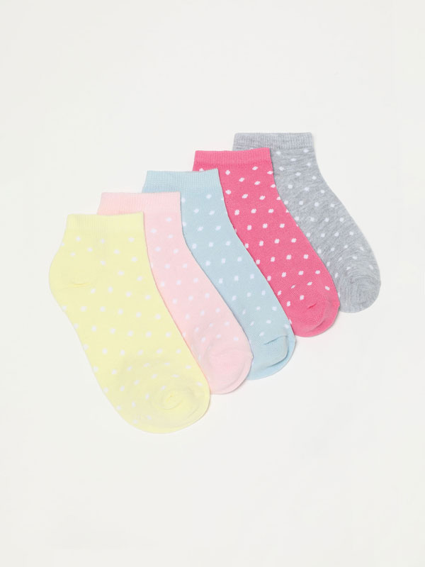 Pack de 5 pares de calcetíns estampados