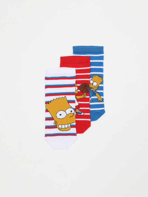 Pack de 3 pares de calcetines tobilleros de ©The Simpsons