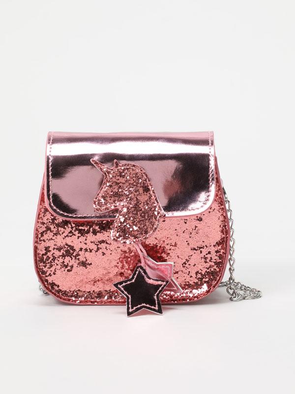Bolso bandolera con glitter