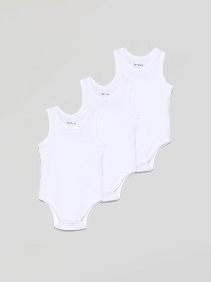 Pack of 3 sleeveless bodysuits