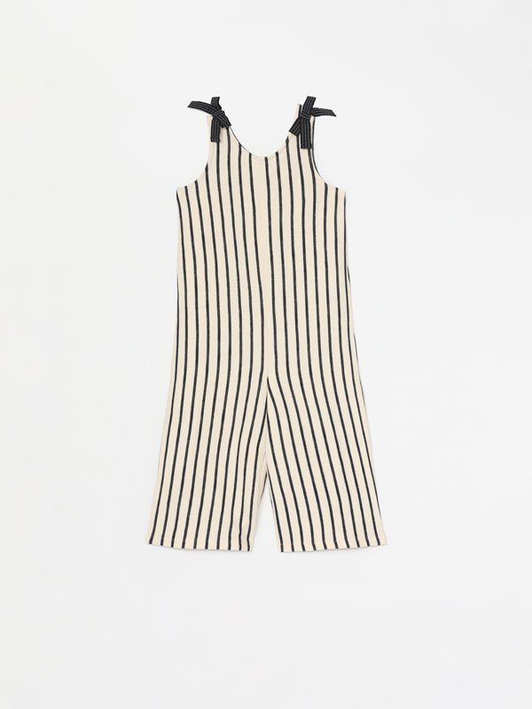 Long jumpsuit with bows
