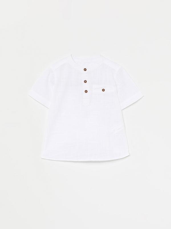 Camisa colo mao